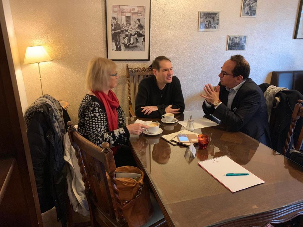 v. l.n.r.Eva Zinke, Viktor Naimark, Holger Clemens Hinz